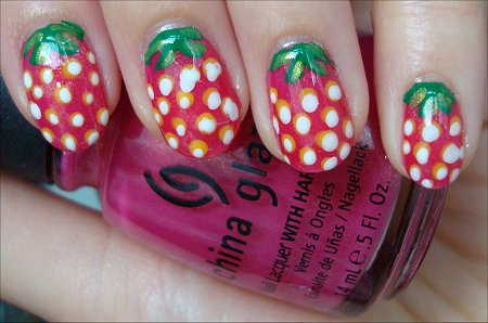 Strawberry Nail Art How-to