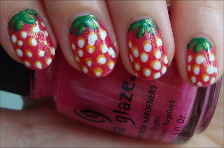 Strawberry Nail Art Swatches & Tutorial