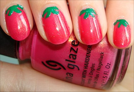 Strawberry Nail Art Tutorial Swatches