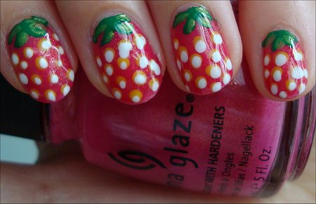 Strawberry Nail Tutorial & Swatch