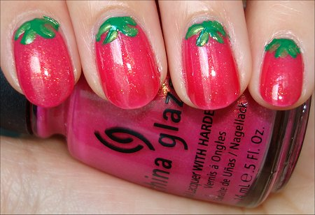 Strawberry Nail Tutorial & Swatches