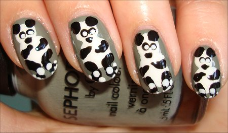 Wildlife Nail Art Panda Bears Nail Art