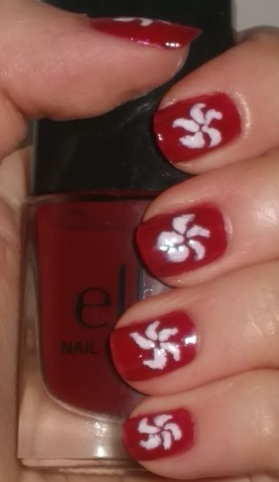 Image of Hong Kong Flag Nails