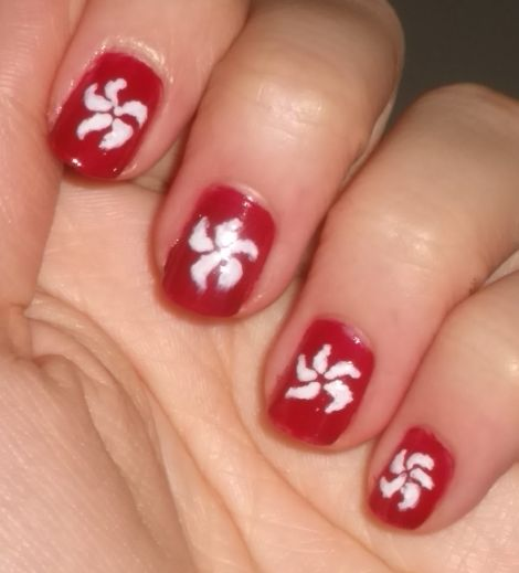 Nail art hong kong flag nails tutorial swatch and learn image of hong kong flag nails prinsesfo Images