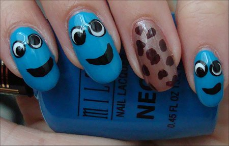 Cookie Monster Nail Art Swatches & Tutorial