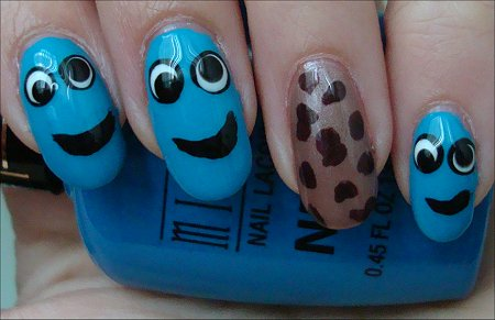 Cookie Monster Nail Art Tutorial & Swatches