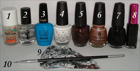 Cookie Monster Nail Art Tutorial
