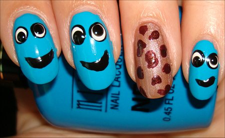 Cookie Monster Nail Tutorial Step 5