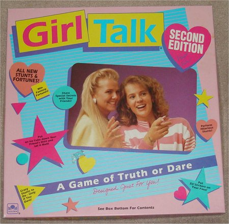 Girl Talk A Game of Truth or Dare Board Game