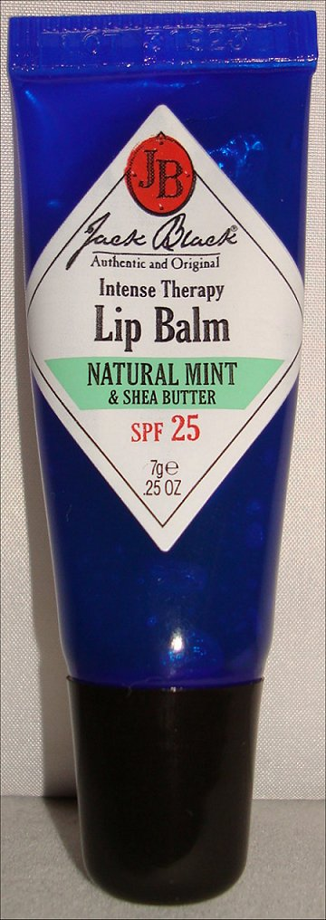 Jack Black Intense Therapy Lip Balm SPF 25 Natural Mint & Shea Butter Review & Pictures