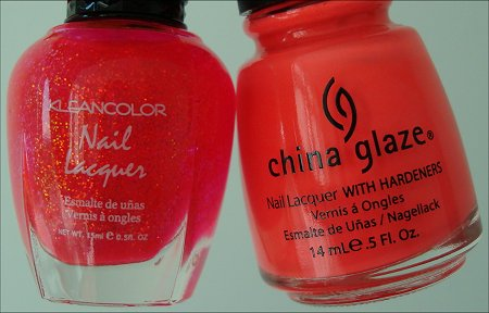 KleanColor Candy Swatches Review China Glaze Flip Flop Fantasy
