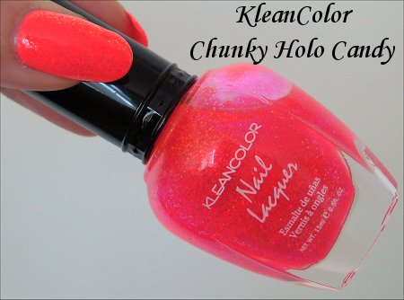 KleanColor Chunky Holo Collection Swatches & Review 228 Candy Swatches
