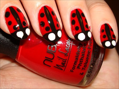 Ladybug Nail Art Tutorial Swatches