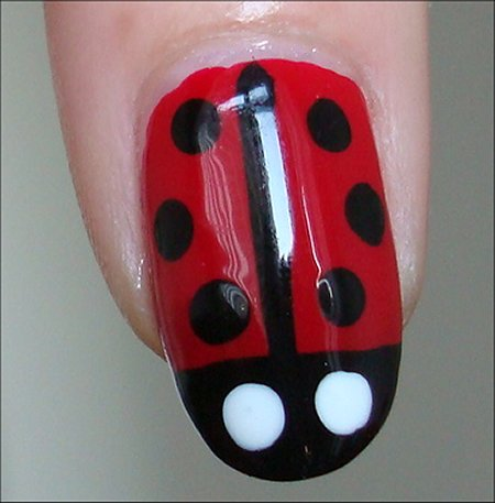 Ladybug Nail Art Swatches & Tutorial