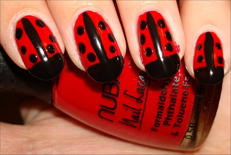 Ladybug Nail Art Tutorial Step 4 - Nail Art Tutorial: Ladybug Nails Swatch And Learn