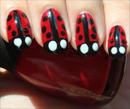 Ladybug Nails Nail Art Tutorial & Swatches