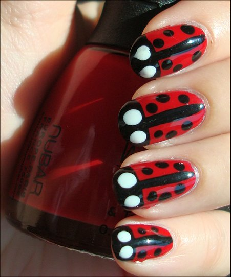 Ladybug Nails Nail Art Tutorial