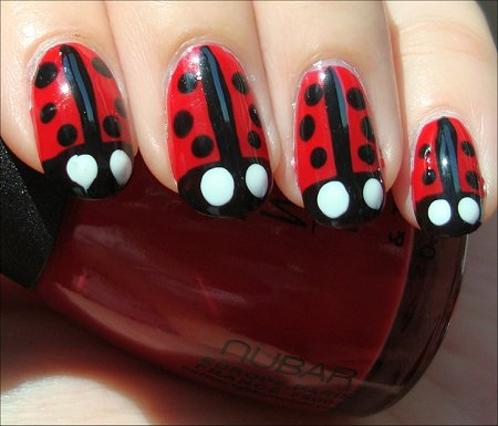Ladybugs Nail Art Swatches & Tutorial