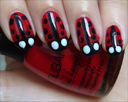 Ladybugs Nail Art Tutorial