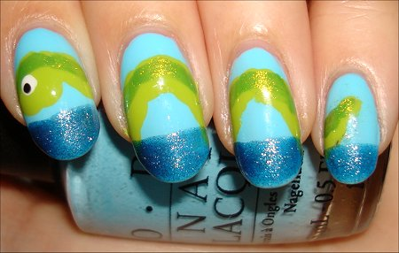 Loch Ness Monster Nail Art Tutorial & Swatches
