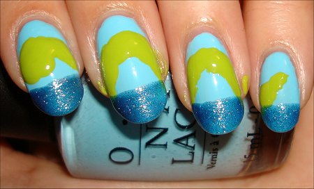 Loch Ness Monster Nail Tutorial Step 2