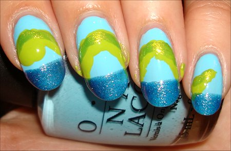 Loch Ness Monster Nail Tutorial Step 3