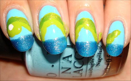 Loch Ness Monster Nail Tutorial Step 4