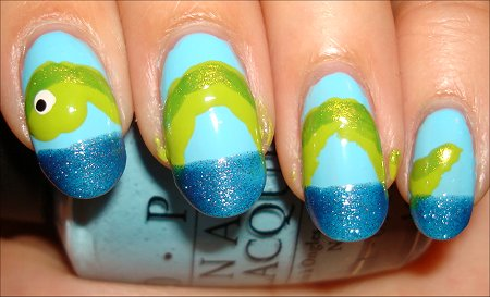 Loch Ness Monster Nail Tutorial Step 5
