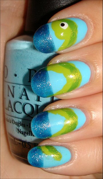 Loch Ness Monster Nails Nail Art Tutorial & Swatches