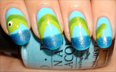 Lock Ness Monster Nails Nail Art Tutorial & Swatches