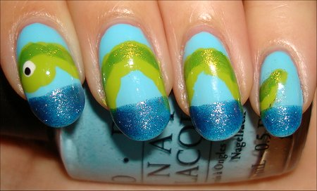 Lockness Monster Nails Tutorial & Swatches