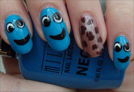Nail Art Cookie Monster Nails