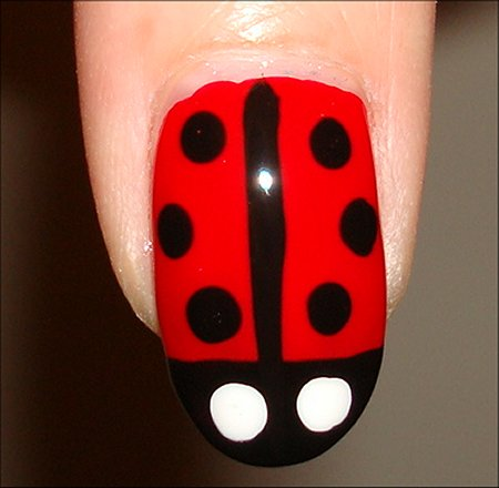 Nail Art Ladybug Nails Tutorial & Swatch