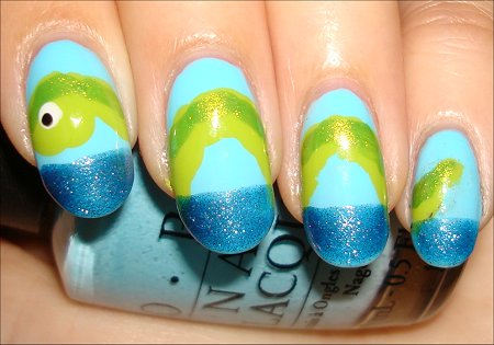 Nail Art Sea Monster Nails & Tutorial