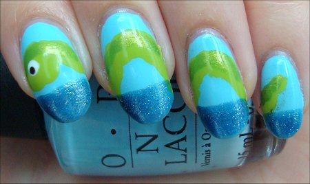 Nail Art Tutorial Loch Ness Monster Nails