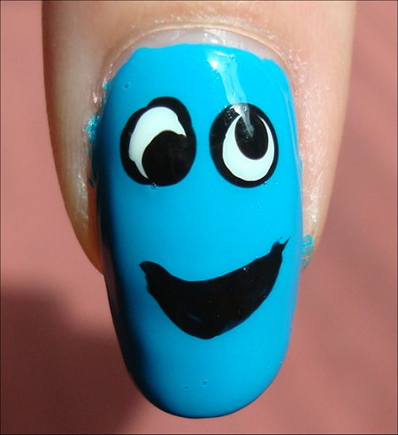 Nail Tutorial Cookie Monster Nail Art