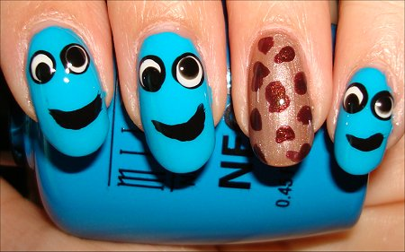 Sesame Street Nails Cookie Monster Nail Art
