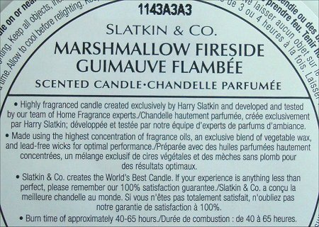 Slatkin and Co. Marshmallow Fireside Candle Review & Photos