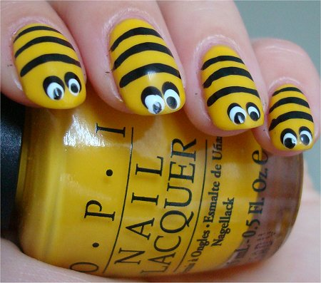Bee Nail Art Photos