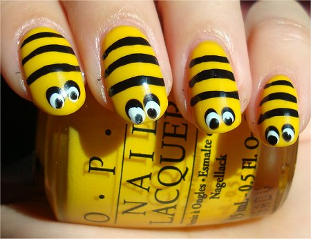 Bee Nail Art Tutorial & Swatch