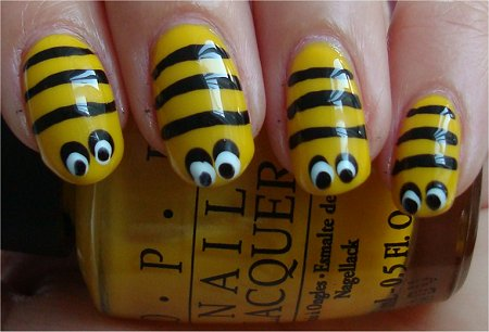 Bee Nails Tutorial &amp; Photos