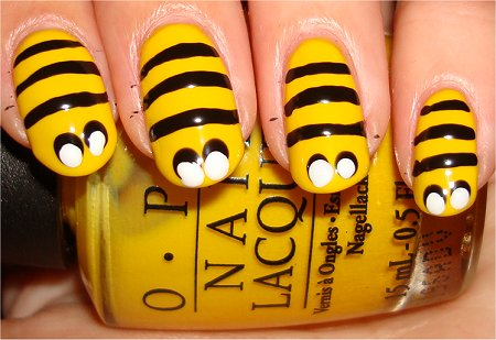 Bee Nails Tutorial Step 3