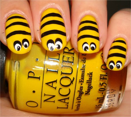 Bee Nails Tutorial Step 4