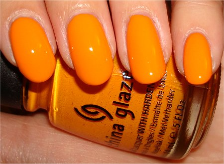 China Glaze Papaya Punch Swatch, Review & Pictures
