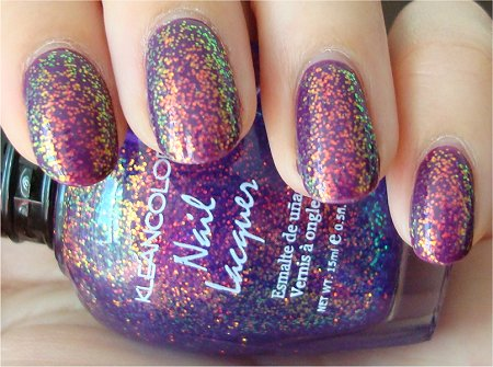 Chunky Holo Purple KleanColor Review & Swatch