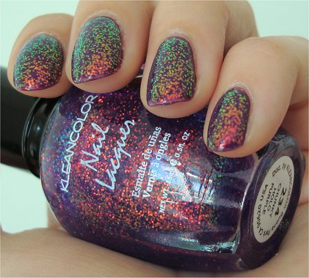 CleanColor Chunky Holo Purple Swatches & Review