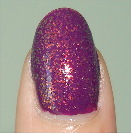 Flash KleanColor Chunky Holo Purple Swatch & Review