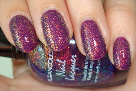 Flash KleanColor Chunky Holo Purple Swatches & Review