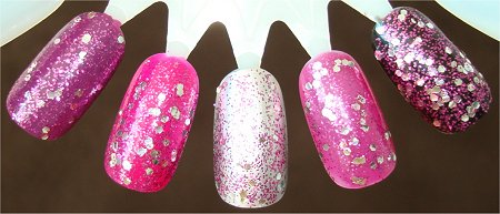Flash OPI Divine Swine Layered Over Other Colors