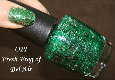 Flash OPI Fresh Frog of Bel-Air Review & Swatches